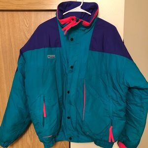 Vintage 91' Puffy Columbia Retro Jacket size Med